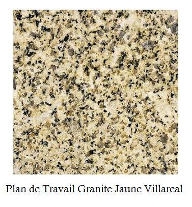 Plan de travail granite et quartz - Plan de travail jaune ...